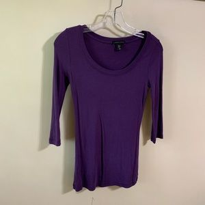 3/4 sleeve fitted top